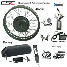 "Electric Fat Bike Tyres Wheel 20 26"" Ebike Conversion Kit 48V 1500W With Battery"