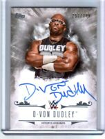 WWE D-Von Dudley 2016 Topps Undisputed On Card Autograph SN 253 of 299