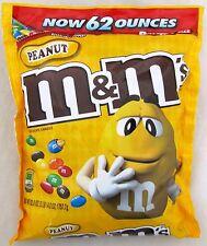 M&M's Peanut 62 oz Bag Chocolate Candy Bulk M & M Candies 3 lb 14 oz M & M's