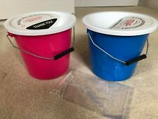 More details for strong charity money collection buckets security ties lids pink blue