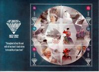 QUEEN Elizabeth ll DIAMOND JUBILEE = MiniSheet of 6 sts Guernsey (GB) 2012 MNH