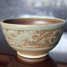Rowlestone Church Pottery MICHAEL TOVEY Dragon Decorated Bowl