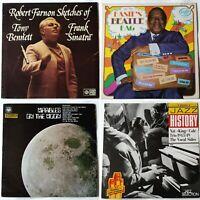 4x Jazz LP joblot. Robert Farnon, Count Basie, Nat King Cole, Frank Sinatra
