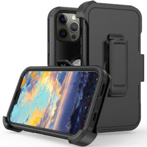 For iPhone 13 Pro Max 13 Pro Shockproof Rugged Cover Case with Stand Belt Clip