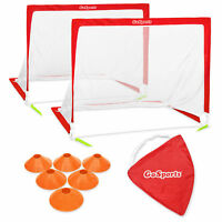 GoSports Foldable Pop Up Soccer Goals Set of 2