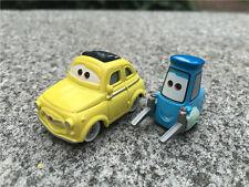 Disney Pixar Cars Movie Luigi & Guido 2pcs Set Metal Diecast Toy Car New Loose