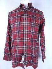 Ralph Lauren RLX Flannel Shirt Men Size Medium Red Plaid Msrp $85