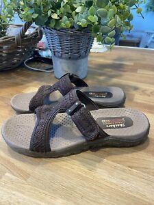 SKECHERS Brown Outdoor Lifestyle Lightweight Low Slip On Sandals Size 4 / 5