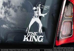 Elvis Presley - Car Window Sticker - The King Rock & Roll Music Sign Decal - V03