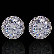 Earrings White Gold Diamond Studs 11 mm Mother Gift Summer Holiday