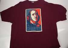 Ben Franklin Charity Shirt Tee Founding Fathers American Burgundy 3X Large