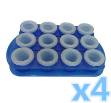 4 x Ice Shot Plastic Frozen Party Drink Glass Mould Tray Freeze Cube Maker #4264