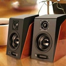Casse amplificate attive per computer pc Usb wooden active speakers altoparlanti