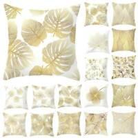 Silver Grey Geometric Cushion Cover Pillow Case Home Sofa Waist Throw Square