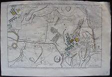 LE ROUGE : PLAN DE LA BATAILLE DE FONTENOY LE 11 MAY 1745 . A Paris, gravure or