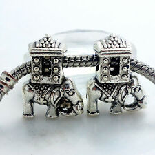 New thai elephant  Bead Fit European Charm Bracelet fr18