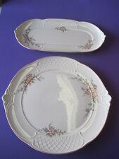 2 x Villeroy & Boch Rosette. Torten  Kuchen Platte ca. 32 x 30 cm - 33,5 x 16 cm