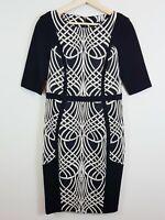 [ CUE ] Womens Pencil Print Dress | Size AU 10 or US 6