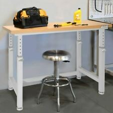 Commercial Workbench Table Desk Bench Adjustable Height Garage Office Industrial