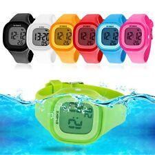 Fashion LED Waterproof Electronic Sport Digital Wrist Watch For Child Girls Boys