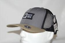 Salty Crew Pinnacle Retro Mesh Snapback Trucker Hat Cap in Charcoal OSFA