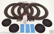 "Advent Heritage 8"" Woofer Foam Kit - Speaker Repair w/ Shims & Dust Caps!"