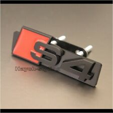 Black S4 Grill Badge A4 RS4 RS S Front Grille Emblem Decal Sticker Logo Sign