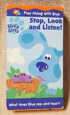 BLUE'S CLUES STOP LOOK AND LISTEN VHS Video Tape NICK JR Nickeloden 2000 Steve