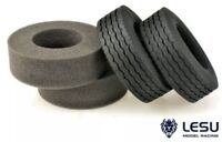 TRACTOR ROAD SUPER SINGLES 30MM WIDE 1/14 Semi Truck 84mm Tires LESU S-1216