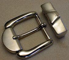 Gürtelschnalle + SCHLAUFE Gürtelbreite 35mm METALL Farbe: Silber FIRST CLASS 1A