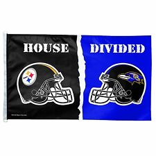 NFL Pittsburgh Steelers vs. Baltimore Ravens 3/5-Foot Flag, House Divided