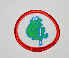 3 Vintage Girl Scouts Frog Pogo Stick Cloth Patch Cookies NOS New 1980s