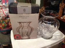 "BNIB DARTINGTON CLEAR HANDMADE CRYSTAL MEDIUM FLORENCE VASE 8""T BLOOMINGDALES"