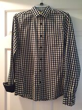Descendant Of Thieves Men's Navy/Yellow Check Long Sleeve Sz S Limited Edition