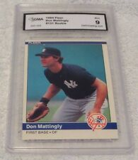 1984 FLEER DON MATTINGLY NEW YORK YANKEES ROOKIE CARD #131- GRADED 9 MINT