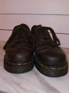 Dr. Doc Martens Brown Leather Platform Shoes Made in England 8651 Womens  Size 5