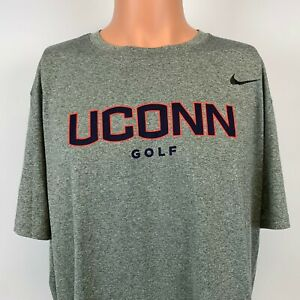 Nike UConn Huskies Golf Dri Fit T Shirt NCAA College Connecticut University XL