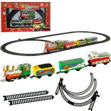 Train électrique de Noël - 9 pièces - train avec wagon père noel, sapin...