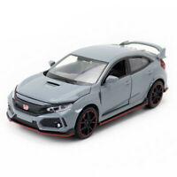 1:32 Honda Civic Type R Sedan Model Car Diecast Toy Vehicle Pull Back Grey Kids