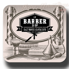 BARBER SHOP CLASSIC CUTS VINTAGE RETRO METAL TIN SIGN STYLE WALL CLOCK
