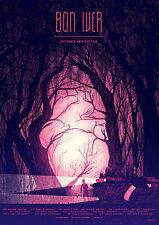 Bon Iver poster 1 size 8.3X11.7&11,7X16.5