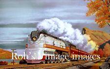 Milwaukee Road Hiawatha  Art Print  CMSP Train Railroad  F-7 BALTIC