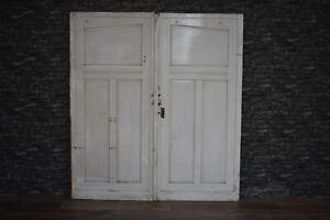 Traumhafte alte Antike Holztür Eingangstür Doppeltür Schiebetür Tür 215 x 194
