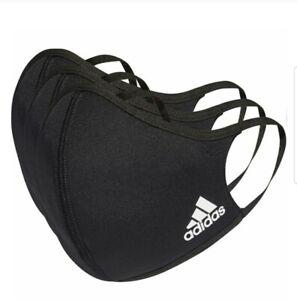 Adidas Originals Logo Unisex Face Mask Black M/L (3 Pack)