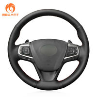 Hand Stitched Leather Car Steering Wheel Cover for Toyota Camry 2015-2017 Avalon