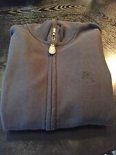 New Burberry Men Hearst Zip Up Sweater Sweatshirt Jacket Logo Knight Black M 275