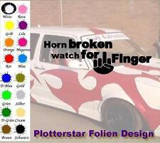 Corne Broken watch for Hater JDM sticker autocollant OEM power Fun like shocker