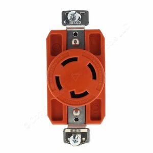 Cooper Isolated Ground Single Locking Receptacle L15-30R 30A 250V 3P4W 1530R-BU