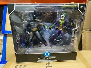 "DC Multiverse Collector 2 Pack Arkham Asylum Batman VS Arkham Joker 7"" Figures"