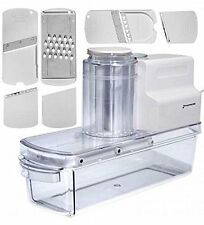 Open Box~GForce Electric Mandoline Vegetable Slicer Blades Grater & Accessories